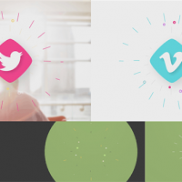 VIDEOHIVE FLAT SHAPES LOGO REVEAL
