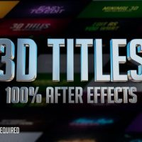 VIDEOHIVE 3D TITLES – NO PLUGINS