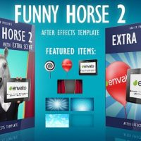 VIDEOHIVE FUNNY HORSE 2 LOGO REVEAL