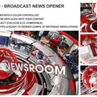 VIDEOHIVE THE NEWSROOM – BROADCAST DESIGN NEWS OPENER