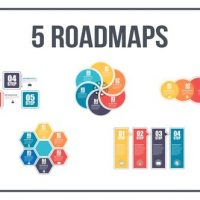 VIDEOHIVE 5 ROADMAPS TEMPLATES – SET THREE