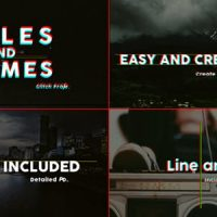 VIDEOHIVE TITLES AND FRAMES GLITCH