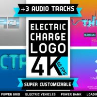 VIDEOHIVE ELECTRICITY LOGO | CHARGE BATTERY ENERGY