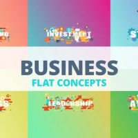 VIDEOHIVE BUSINESS – TYPOGRAPHY FLAT CONCEPT