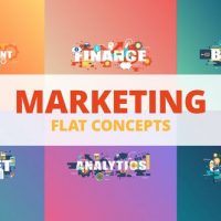 VIDEOHIVE MARKETING – TYPOGRAPHY FLAT CONCEPT