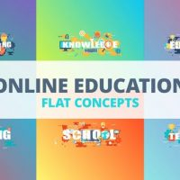 VIDEOHIVE ONLINE EDUCATION – TYPOGRAPHY FLAT CONCEPT