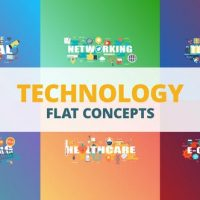 VIDEOHIVE TECHNOLOGY – TYPOGRAPHY FLAT CONCEPT