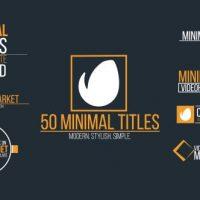 VIDEOHIVE MINIMAL TITLES 14660690