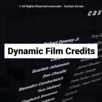 VIDEOHIVE DYNAMIC FILM CREDITS