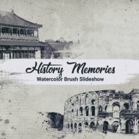VIDEOHIVE HISTORY MEMORIES // WATERCOLOR BRUSH SLIDESHOW
