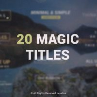 VIDEOHIVE ESSENTIAL // MINIMAL SIMPLE TITLES PACK