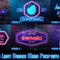 VIDEOHIVE NEON LIGHTS BADGES