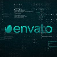 VIDEOHIVE DIGITAL SPACE LOGO REVEAL