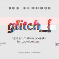 VIDEOHIVE PROJECT-X GLITCH 30 TEXT PRESETS FOR PREMIERE PRO | MOGRT