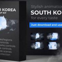 VIDEOHIVE SOUTH KOREA MAP – REPUBLIC OF KOREA MAP