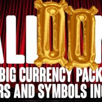 VIDEOHIVE FOIL BALLOONS CURRENCY & NUMBERS