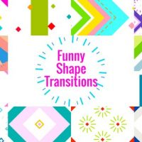 VIDEOHIVE FUNNY SHAPE TRANSITIONS\AE