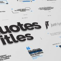 VIDEOHIVE JUST TYPE | QUOTE TITLES