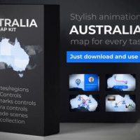 VIDEOHIVE AUSTRALIA MAP ANIMATION – COMMONWEALTH OF AUSTRALIA MAP KIT