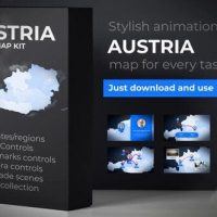 VIDEOHIVE AUSTRIA MAP – REPUBLIC OF AUSTRIA MAP KIT