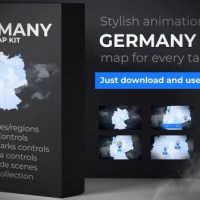 VIDEOHIVE GERMANY MAP – DEUTSCHLAND MAP KIT – FEDERAL REPUBLIC OF GERMANY MAP