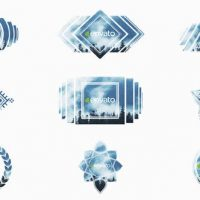 VIDEOHIVE CREATIVE SHAPES LOGO