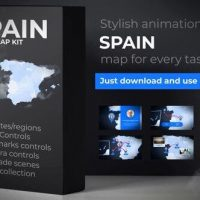 VIDEOHIVE SPAIN ANIMATED MAP – KINGDOM OF SPAIN MAP KIT