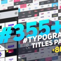 VIDEOHIVE BIG PACK OF TYPOGRAPHY | ATOM