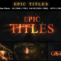 VIDEOHIVE EPIC TITLES 17465869