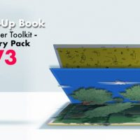 VIDEOHIVE 3D POP-UP BOOK TOOLKIT FEATURING MISTER CAKE | TOOLKIT & STORY CONSTRUCTION SET V3