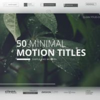 VIDEOHIVE MINIMAL TITLES COLLECTION