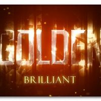 VIDEOHIVE GOLDEN BRILLIANT LOGO REVEAL