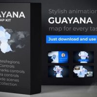VIDEOHIVE GUYANA ANIMATED MAP – CO-OPERATIVE REPUBLIC OF GUYANA MAP KIT