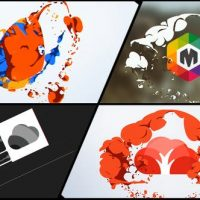 VIDEOHIVE LIQUID AND SMOKE HAND DRAWN LOGO REVEALS