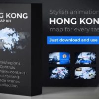 VIDEOHIVE HONG KONG ANIMATED MAP – HONG KONG REGION OF THE PEOPLES REPUBLIC OF CHINA 24304594