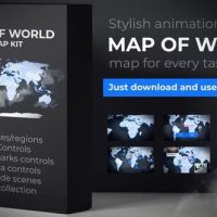 VIDEOHIVE MAP OF WORLD WITH COUNTRIES – ANIMATED MAP