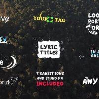 VIDEOHIVE LYRIC TITLES| PREMIERE PRO MOGRT