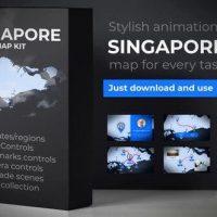 VIDEOHIVE SINGAPORE ANIMATED MAP – REPUBLIC OF SINGAPORE MAP KIT
