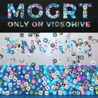 VIDEOHIVE FALLING SOCIAL ICONS – TITLE REVEAL (MOGRT) – PREMIERE PRO