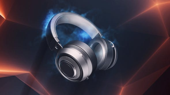 VIDEOHIVE HEADPHONES LOGO 24338957 - Free After Effects