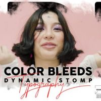 VIDEOHIVE COLOR BLEEDS DYNAMIC STOMP TYPOGRAPHY