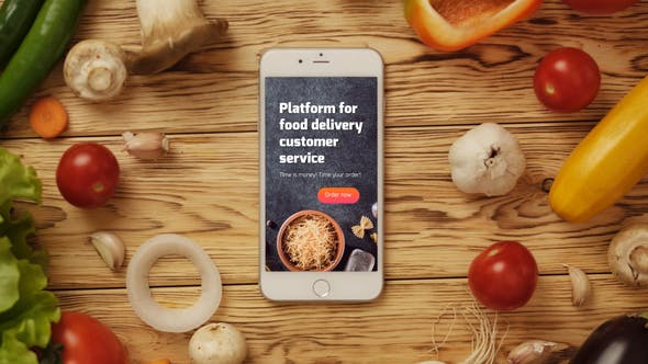 VIDEOHIVE FOOD APP LOGO REVEAL - Free After Effects Template