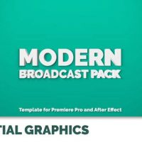 VIDEOHIVE MODERN BROADCAST PACK | ESSENTIAL GRAPHICS | MOGRT – PREMIERE PRO