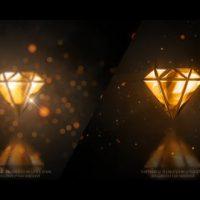VIDEOHIVE GOLD GLOSSY LUXURY LOGO