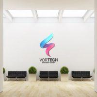 VIDEOHIVE LOGO-MOCK UP CORPORATE INTERIOR II