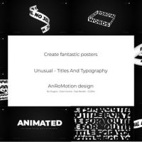 VIDEOHIVE UNUSUAL – TITLES AND TYPOGRAPHY