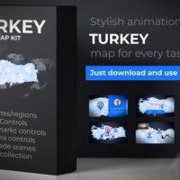 VIDEOHIVE TURKEY MAP – REPUBLIC OF TURKEY MAP KIT