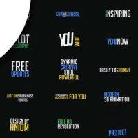 VIDEOHIVE 65 KINETIC TYPOGRAPHY SCENES | MOGRT – PREMIERE PRO