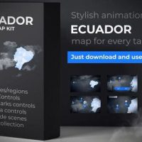 VIDEOHIVE ECUADOR MAP – REPUBLIC OF ECUADOR MAP KIT
