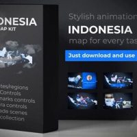 VIDEOHIVE INDONESIA MAP – REPUBLIC OF INDONESIA MAP KIT